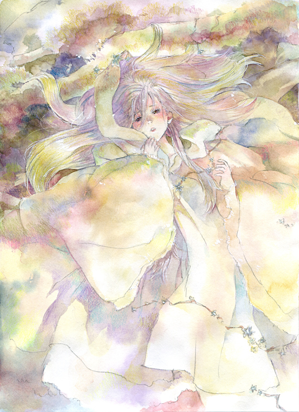 Tags: Anime, Oyabin (artist), Detailed, Original, Watercolor, Traditional Media, Pixiv