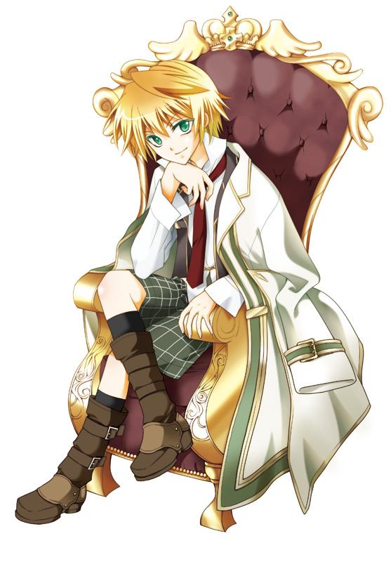 Tags: Anime, Pixiv Id 879897, Pandora Hearts, Oz Vessalius, Sitting On Throne, Mobile Wallpaper, Fanart, Pixiv