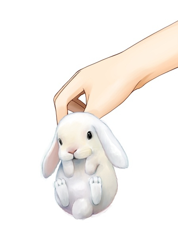 Tags: Anime, P-F Lilac, Cutte, Hands, Rabbit