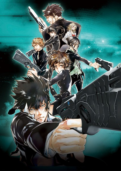 Tags: Anime, Amano Akira, PSYCHO-PASS, Kunizuka Yayoi, Kagari Shuusei, Tsunemori Akane, Masaoka Tomomi