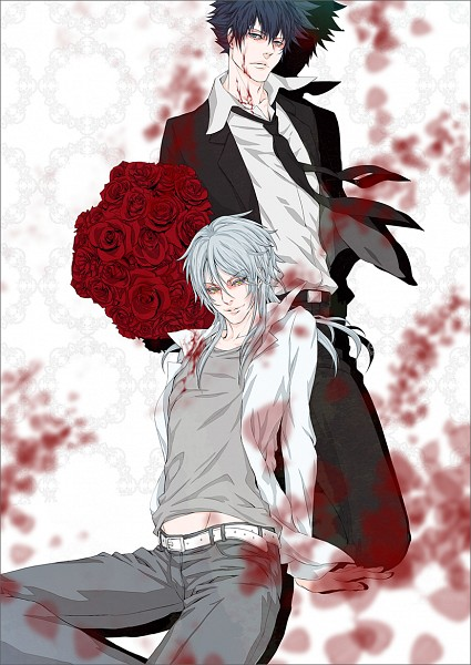 Tags: Anime, Pixiv Id 1020162, PSYCHO-PASS, Makishima Shougo, Kougami Shinya, Bouquet