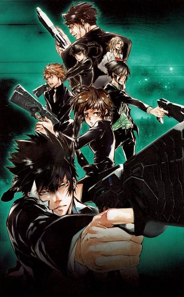 Tags: Anime, Amano Akira, PSYCHO-PASS, REBO to DLIVE, Karanomori Shion, Kunizuka Yayoi, Kagari Shuusei