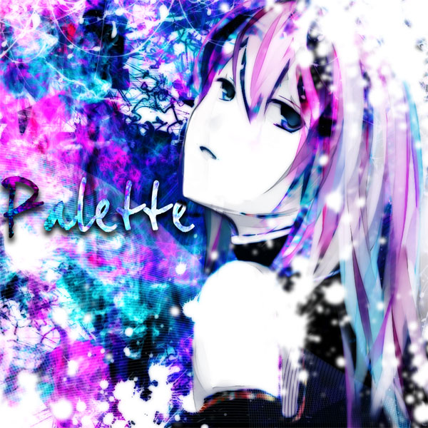 Tags: Anime, Meola, VOCALOID, Megurine Luka, Abstract Background, Palette (Song)