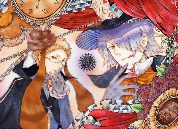 Tags: Anime, Pixiv Id 2517500, Alice in Wonderland, Pandora Hearts, Reim Lunettes, Xerxes Break, Mad Hatter