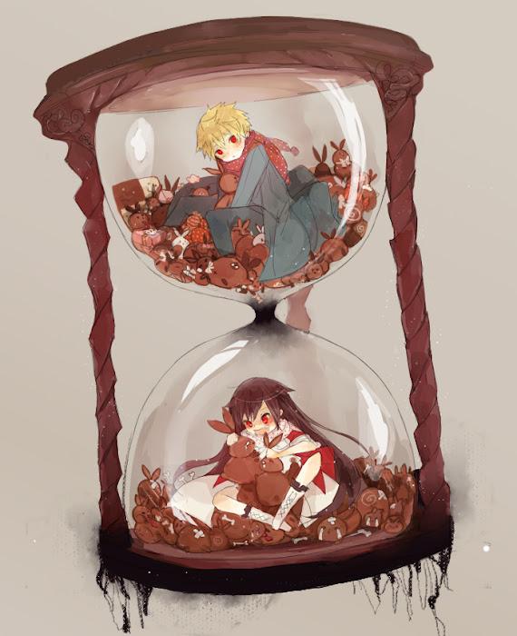 Tags: Anime, Tiffany (Artist), Pandora Hearts, Oz Vessalius, Alice Baskerville, Hourglass, Tumblr, Fanart