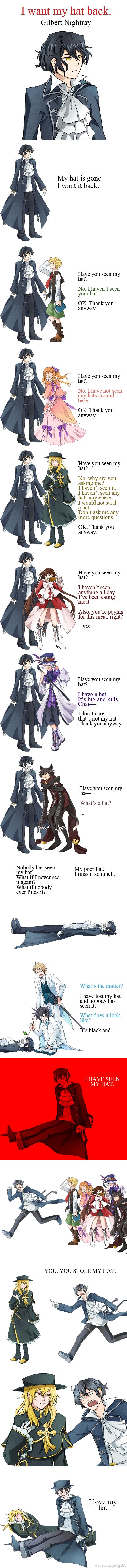 Tags: Anime, Wavewhisper, Pandora Hearts, Sharon Rainsworth, Cheshire Cat (Pandora Hearts), Xerxes Break, Oz Vessalius, Leo Baskerville, Gilbert Nightray, Elliot Nightray, Alice Baskerville, Vincent Nightray, Tailcoat