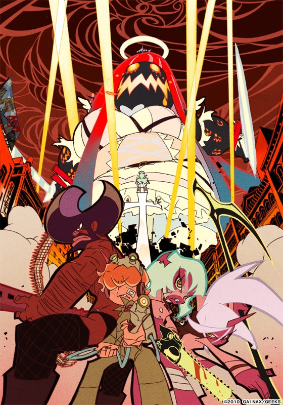Tags: Anime, Gainax, Panty and Stocking With Garterbelt, Chuck (PSG), Corset (PSG), Garterbelt (PSG), Kneesocks (PSG), Anarchy Stocking, Scanty, Anarchy Panty, Rock Briefers, Red Skin, Afro