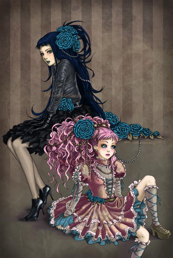 Tags: Anime, Yazawa Ai, Paradise Kiss, Hayasaka Yukari, Sakurada Miwako, Mobile Wallpaper, Artist Request, Fanart