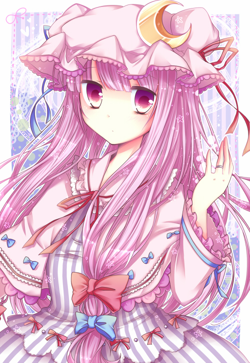 Tags: Anime, Sanotsuki, Touhou, Patchouli Knowledge, Pixiv, Fanart