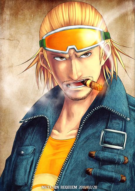 Tags: Anime, Kei-suwabe, ONE PIECE, Paulie, Cigar, Pixiv, Fanart