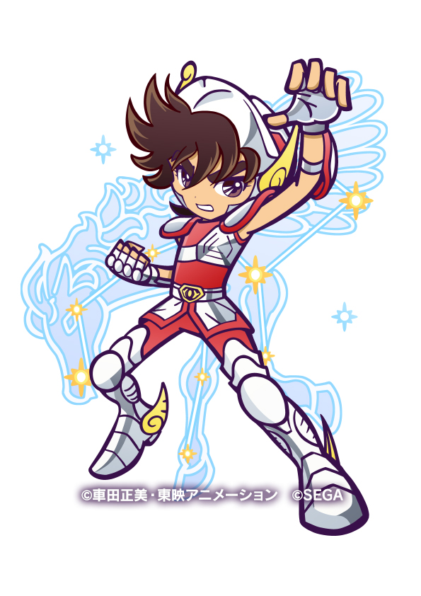 Tags: Anime, Sega, Saint Seiya, Puyopuyo!! Quest, Pegasus Seiya, Official Art, Bronze Saints