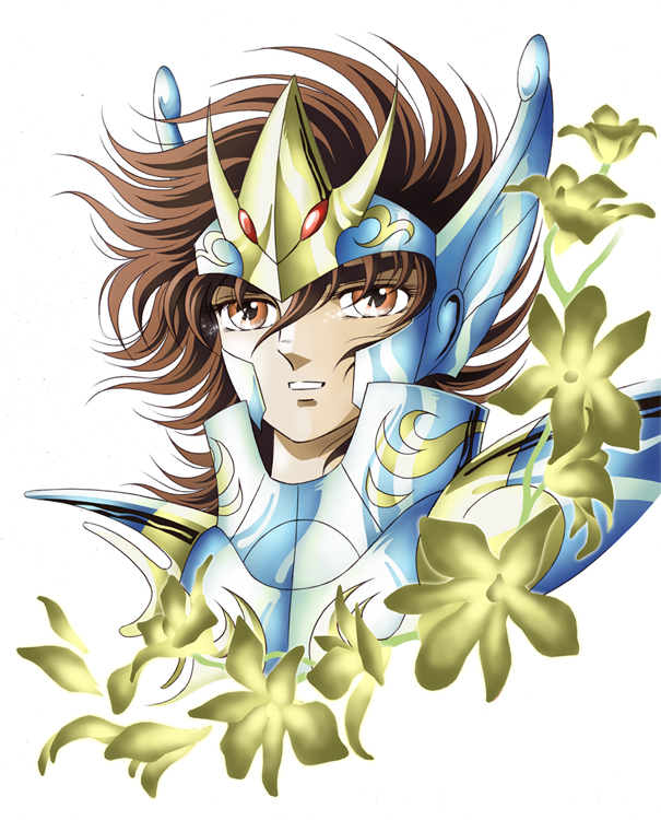 Tags: Anime, Saint Seiya, Pegasus Seiya, Orchid, Artist Request, Bronze Saints