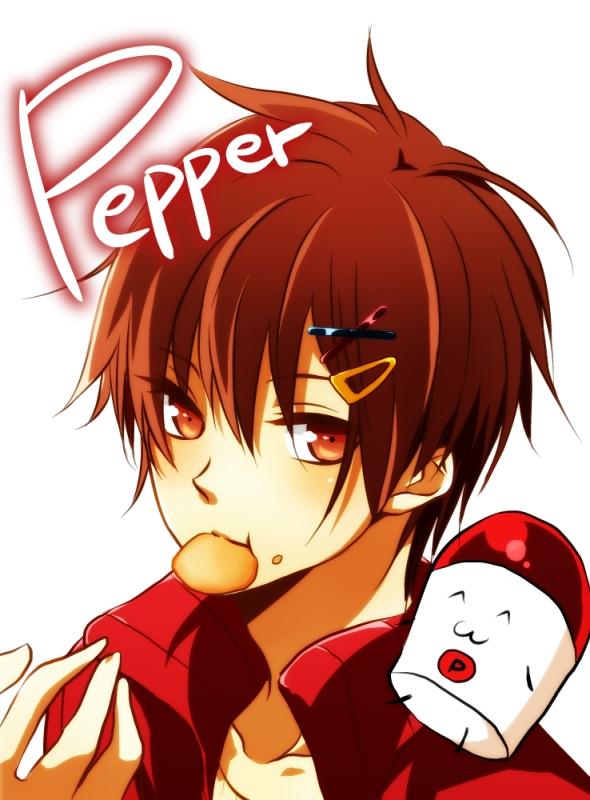Tags: Anime, Pixiv Id 2081091, Pepper (Nico Nico Jikkyou), Chips, Nico Nico Jikkyou, Salt and Pepper