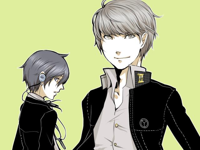 Tags: Anime, Shin Megami Tensei: PERSONA 3, Shin Megami Tensei: PERSONA 4, Yuuki Makoto (PERSONA 3), Narukami Yu, Fanart