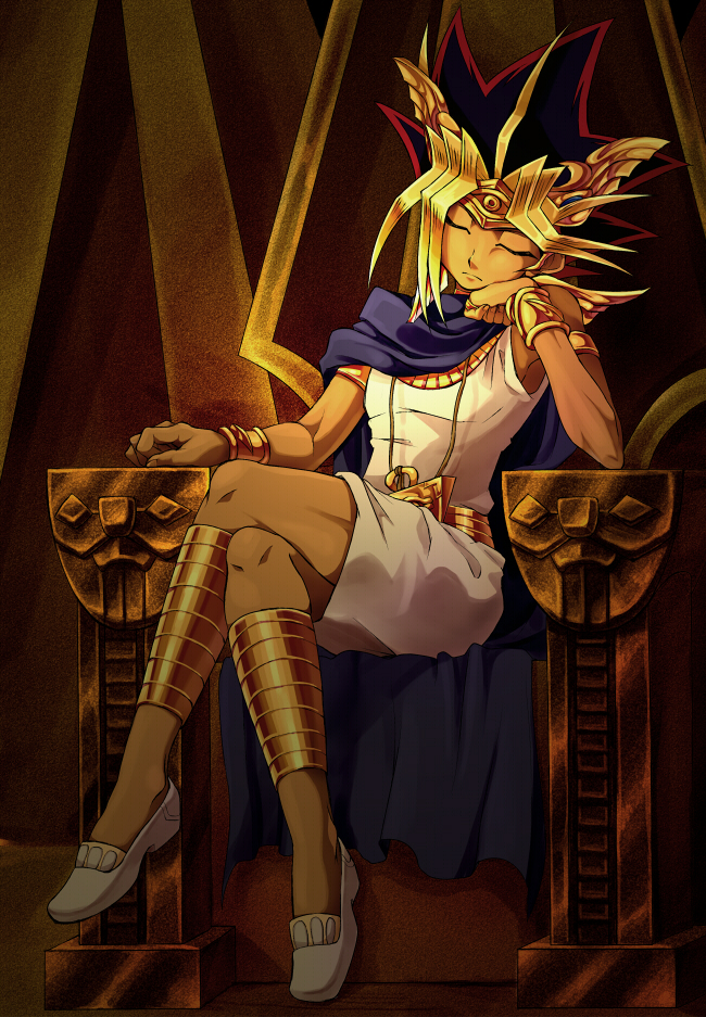 Tags: Anime, Pixiv Id 2690550, Yu-Gi-Oh!, Yu-Gi-Oh! Duel Monsters, Pharaoh Atem, Yami Yugi, Egyptian Clothes, Fanart From Pixiv, Fanart, Mobile Wallpaper, Pixiv
