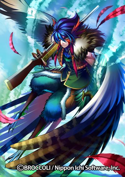 Tags: Anime, Yamazaki Nanae, Nippon Ichi Software, BROCCOLI, Z/X - Zillions of Enemy X, Pheasant Hunter Pheasant, Official Art, Official Card Illustration, Pixiv
