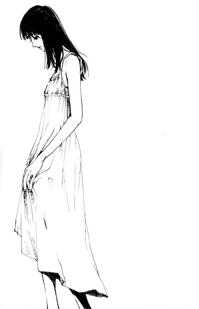 Tags: Anime, Pigwing, Finger, Lonely, deviantART, Original, Mobile Wallpaper
