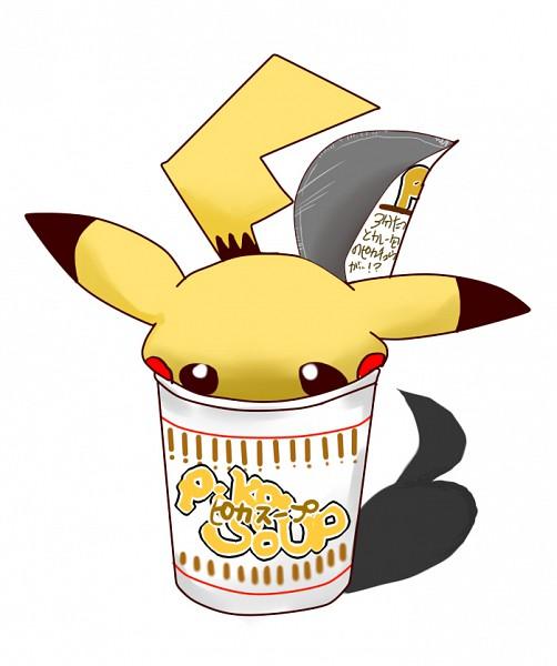 Tags: Anime, Pokémon, Pikachu, Soup, Cup Noodle, Ramen, Noodles