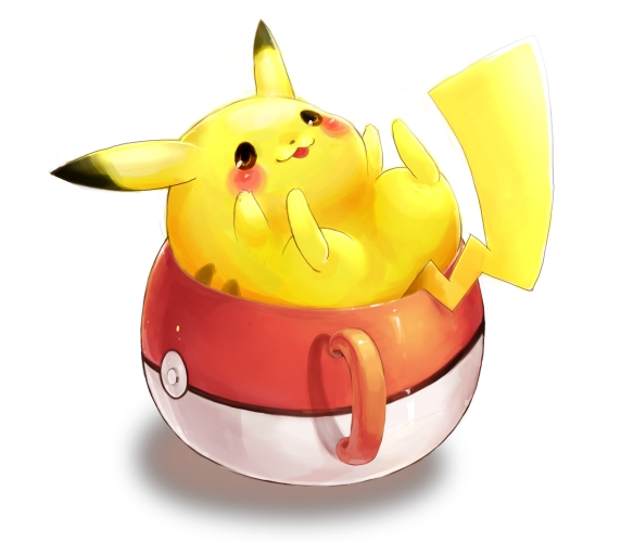 Tags: Anime, Pixiv Id 469032, Pokémon, Pikachu, Pokéball Mug, Pixiv, Fanart