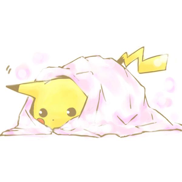 Tags: Anime, Ai Kiri@irisu, Pokémon, Pikachu, Fear, Blanket