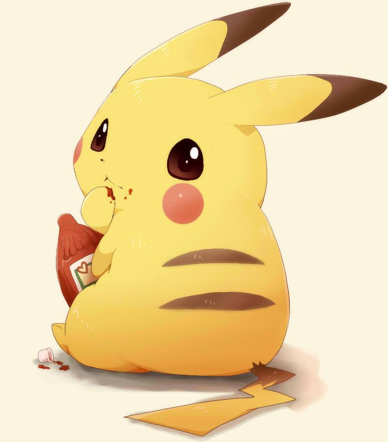 Ketchup food zerochan anime image board - Image pikachu ...
