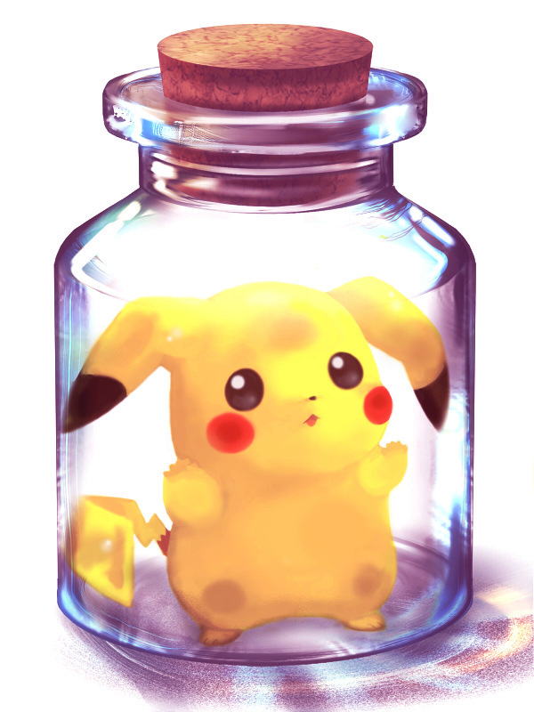 Tags: Anime, Bottle, Pokémon, Pikachu, Pixiv Bottle, No People