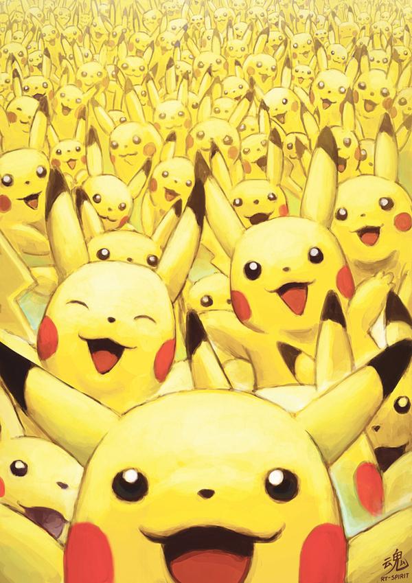 Tags: Anime, Ry-Spirit, Pokémon Red & Green, Pokémon, Ditto, Pikachu, Revision, Fanart From DeviantART, Fanart, Mobile Wallpaper, deviantART