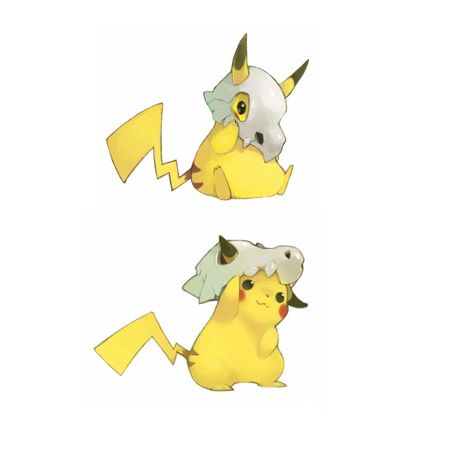 Tags: Anime, Kenko, Pokémon, Pikachu, Cubone, Gon, Pixiv, Fanart