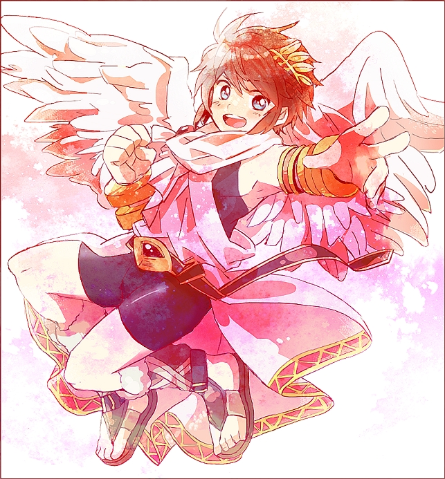 Tags: Anime, Korokoro3405, Kid Icarus, Pit, Greek Clothes, Laurel Wreath, Toga, Pixiv, Fanart From Pixiv, Fanart