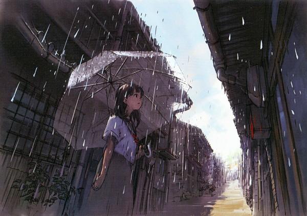 anime rain green wallpaper - photo #21