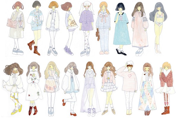 Tags: Anime, Pixiv Id 1412423, Medical Mask, Sleepwear, Crossed Legs, Stuffed Bear, Cult Party Kei
