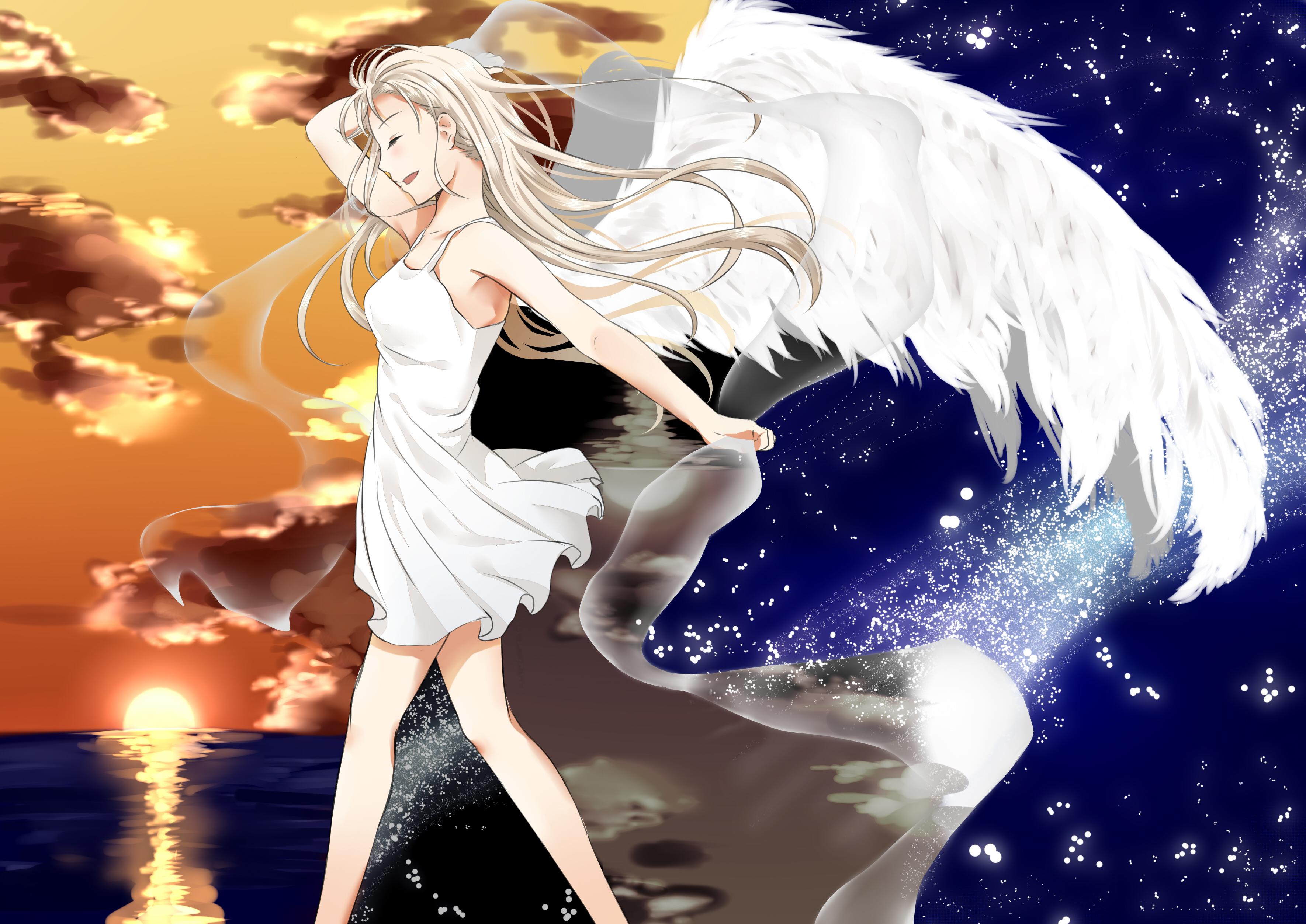 Картинки белых ангелов девочек
