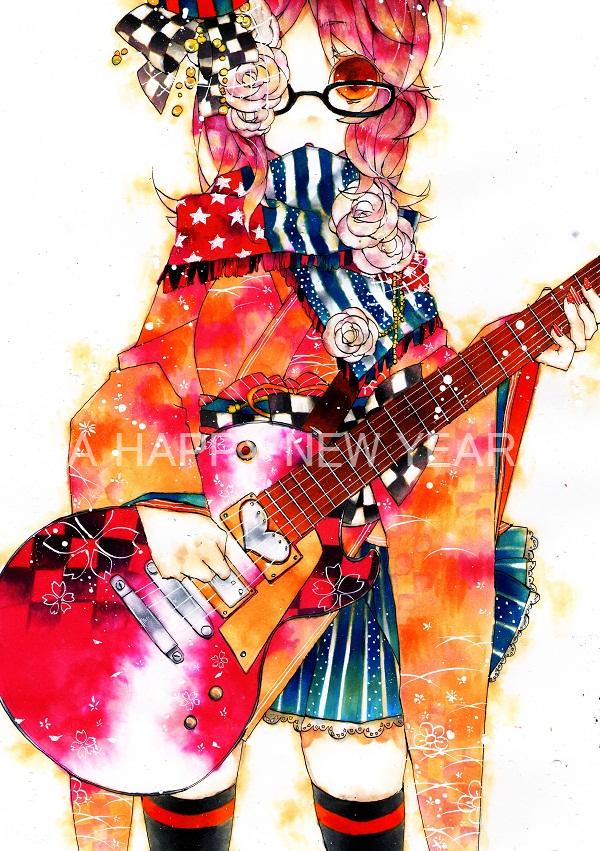 Tags: Anime, Pixiv Id 1797060, Electric Guitar, Pixiv, Original, Mobile Wallpaper
