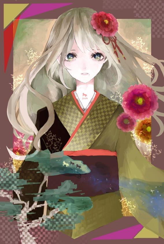 Tags: Anime, Pixiv Id 2592926, Happy 2014, Pixiv, Original, Mobile Wallpaper