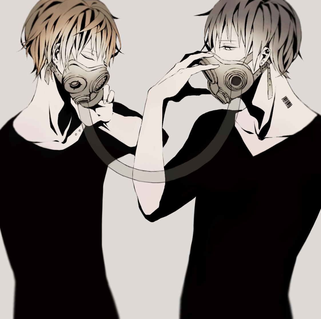 Chicos sexys con Gas Mask <3 Pixiv.Id.2787621.full.1437417