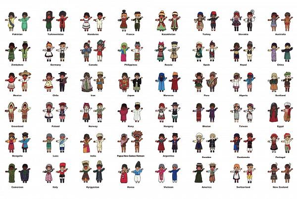 Tags: Anime, Pixiv Id 297582, Hanbok, Polish Clothes, Vietnamese Clothes, Indian Clothes, Russian Clothes