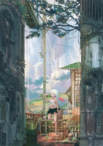 Tags: Anime, Pixiv Id 4285489, Desk