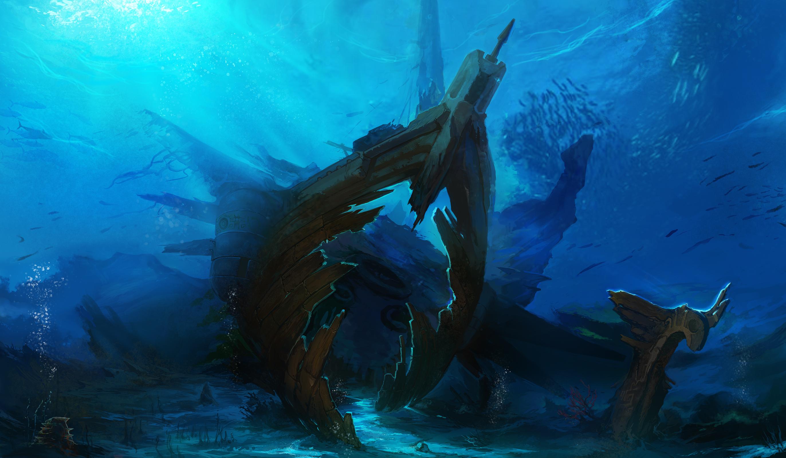Underwater, Scenery | page 2 - Zerochan Anime Image Board