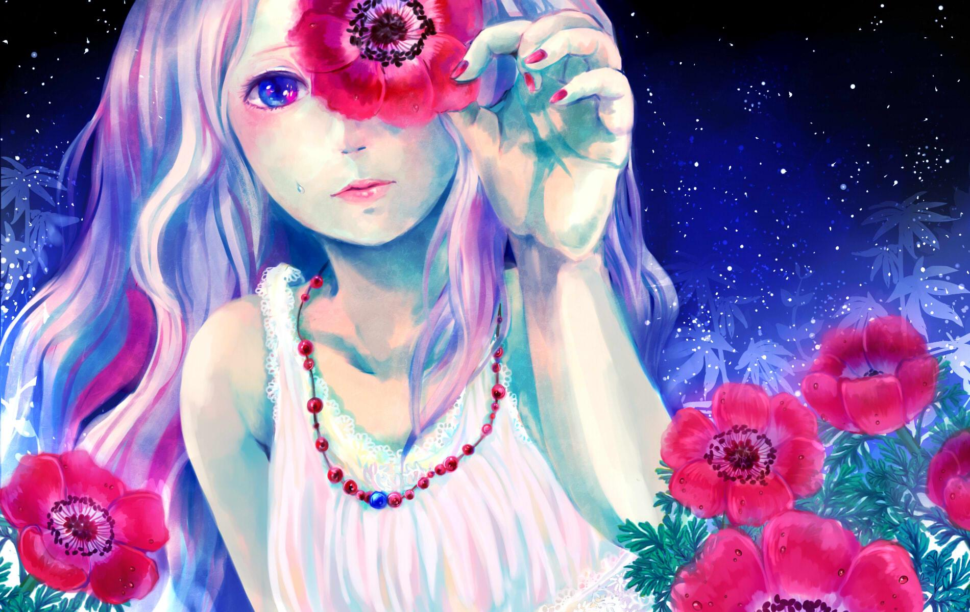 Арт фото девушек с цветами