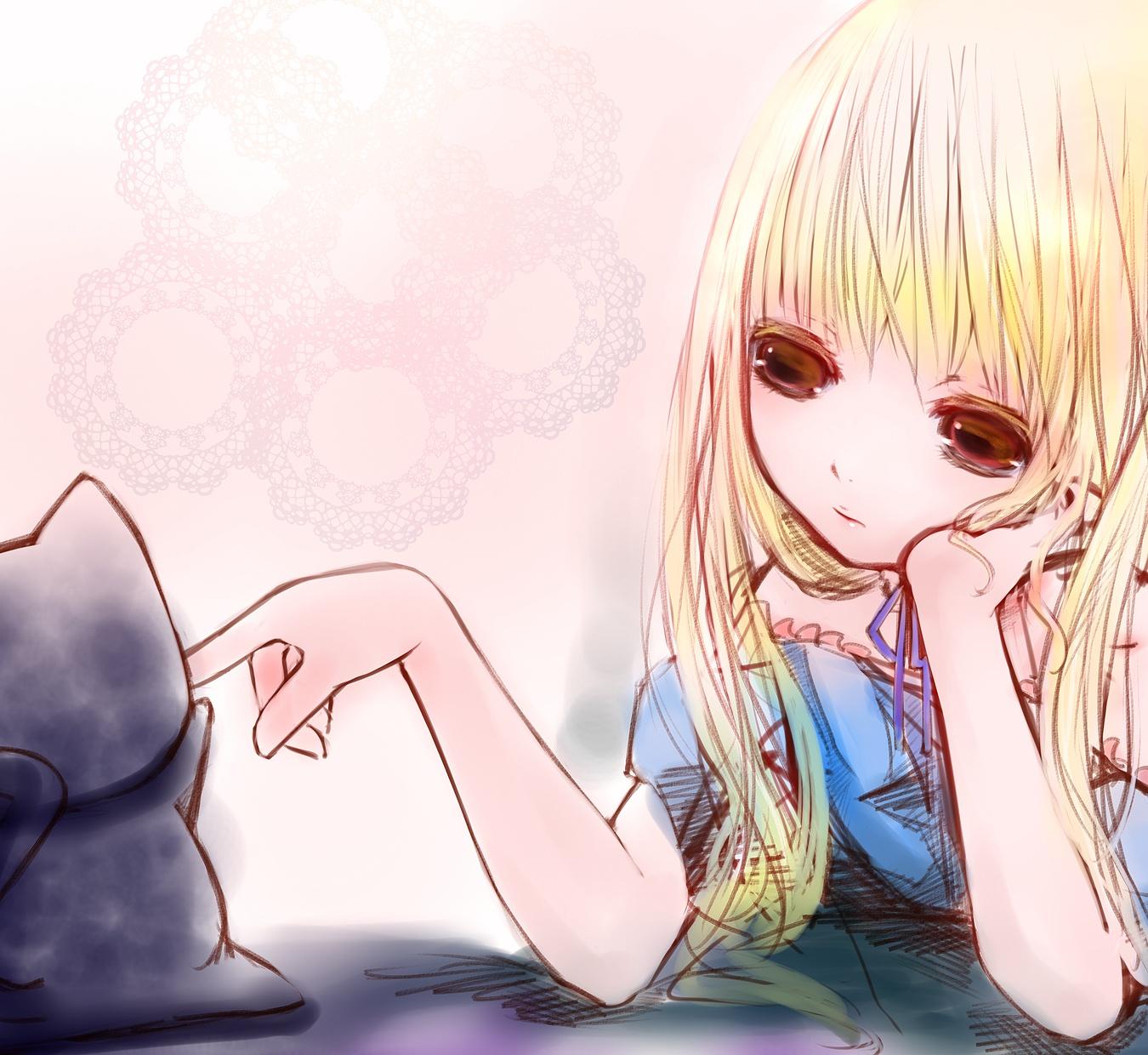 Картинки аниме грустных девочек