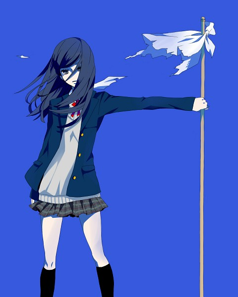 Tags: Anime, Blue, Wind, Summer Wars, Blue Background, Open Jacket, Buttons