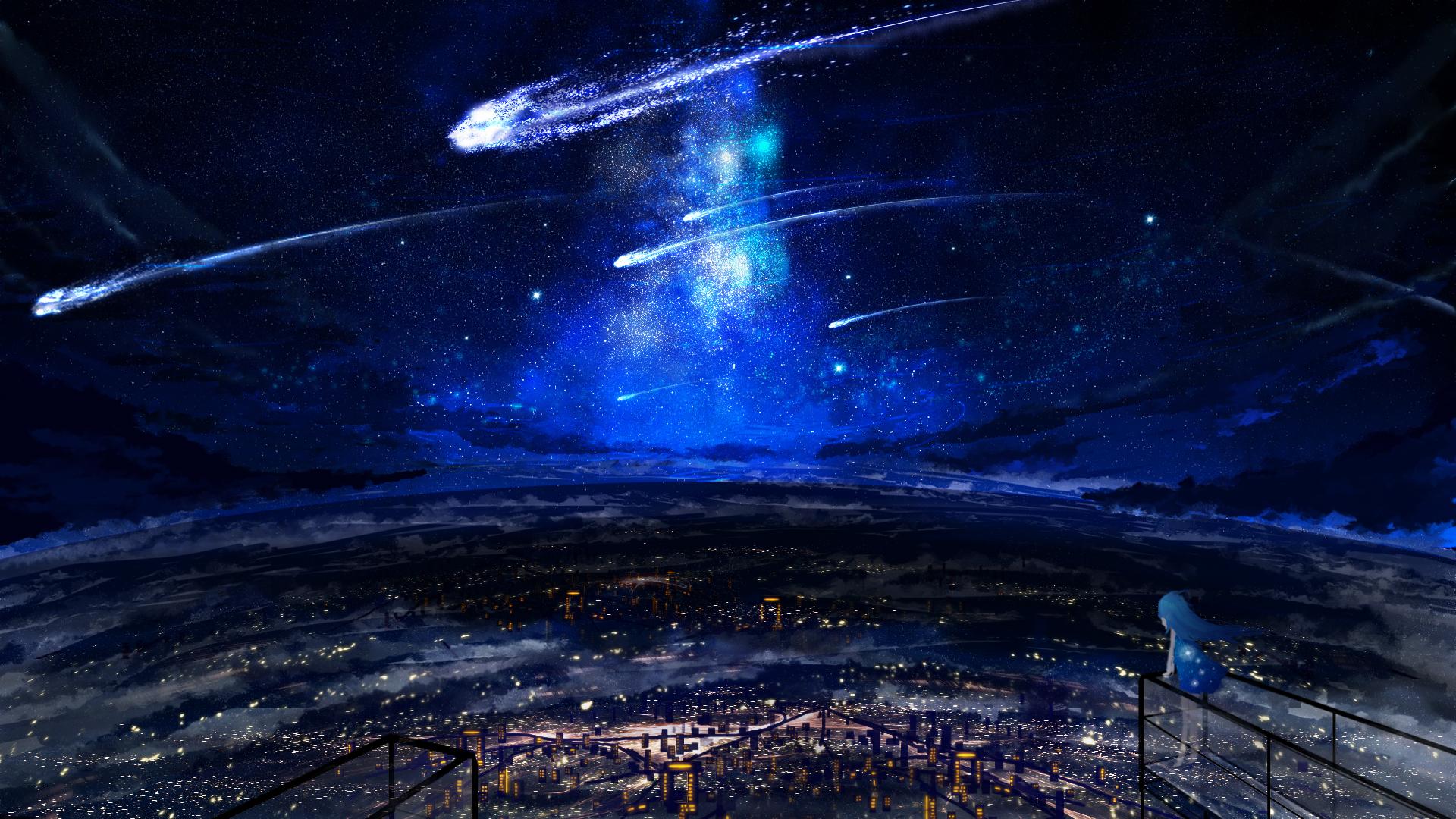 night sky stars desktop wallpaper