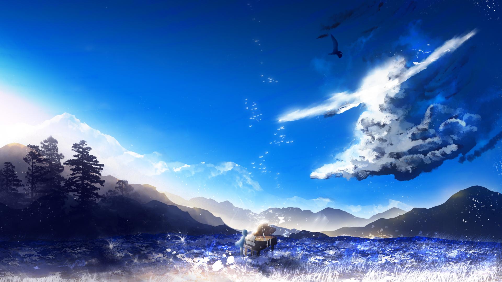 iphone blue wallpaper