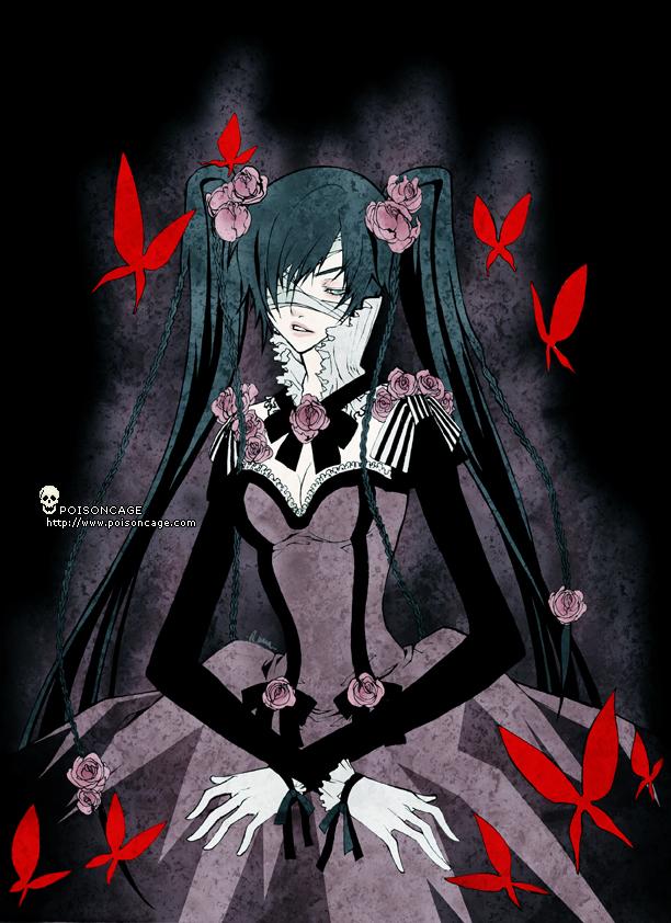 Tags: Anime, Poisoncage, X-down, Kuroshitsuji, Ciel Phantomhive, Alice (X-down), Mobile Wallpaper