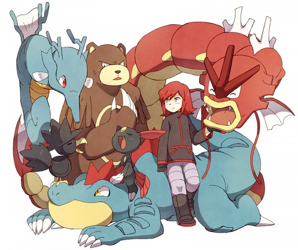 Tags: Anime, Otoufu (Nenne), Pokémon SPECIAL, Pokémon, Red Gyarados, Kingdra, Sneasel