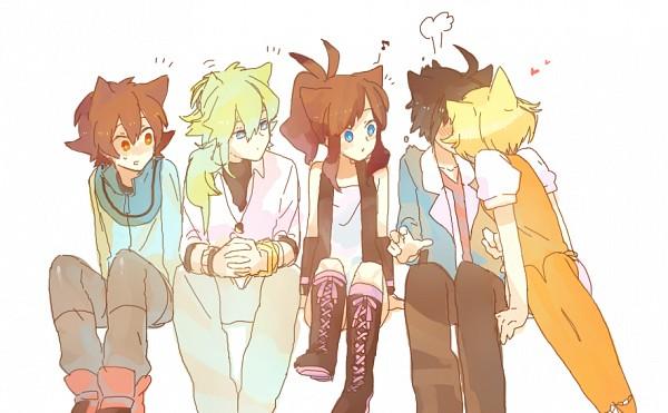 Tags: Anime, Pixiv Id 672826, Pokémon, Touko (Pokémon), Bel (Pokémon), Touya (Pokémon), Cheren (Pokémon)