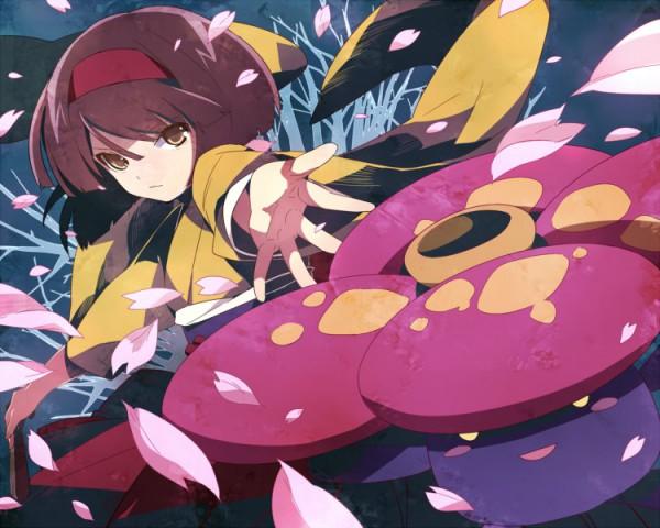 Tags: Anime, Pokémon, Vileplume, Erika (Pokémon), Compression Artifacts