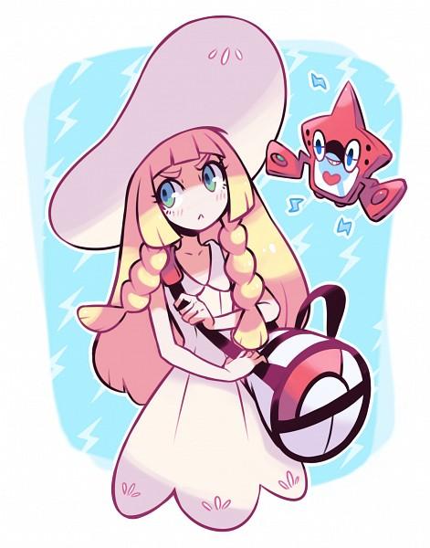 Tags: Anime, Pixiv Id 1077851, Pokémon, Rotom, Lillie (Pokémon), :<, Shoulder Bag