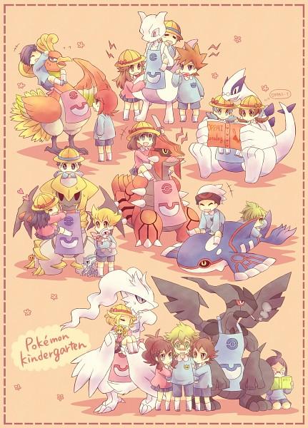 Tags: Anime, Kabocha Torute, Pokémon, Bel (Pokémon), Haruka (Pokémon), Jun (Pokémon), Reshiram