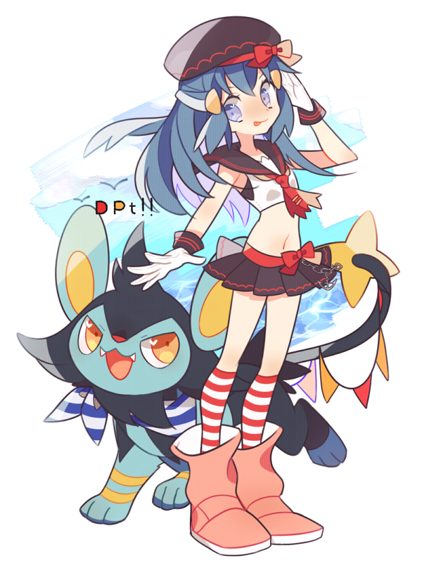 Tags: Anime, Pixiv Id 1481702, Pokémon Diamond & Pearl, Pokémon, Luxio, Hikari (Pokémon), PNG Conversion, Fanart, Mobile Wallpaper, Pixiv, Fanart From Pixiv